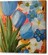 Blue Tulip Trio Canvas Print