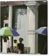 Blue Umbrellas Canvas Print