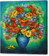 Blue Vase. Canvas Print