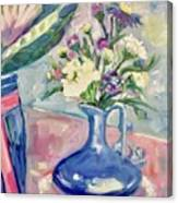 Blue Vase Canvas Print