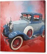 Blue Vintage Car Canvas Print