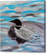 Blue Water And Loon Canvas Print