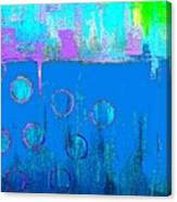 Blue Water And Sky Abstract Canvas Print