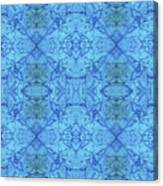 Blue Water Batik Tiled Canvas Print