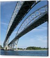 Blue Water Bridge Canvas Print