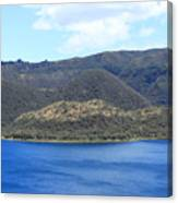 Blue Water Green Islands Canvas Print