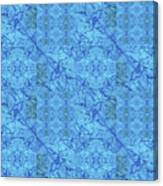 Blue Water Patchwork Canvas Print