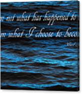 Blue Water With Inspirational Text Canvas Print