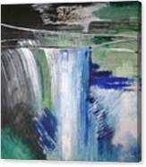 Blue Waterfalls Canvas Print