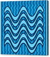 Blue Wave Over Wave Pattern On Gifts Shirts Pillows Tote Bags Phone Cases Shower Curtains Duvet Cove Canvas Print