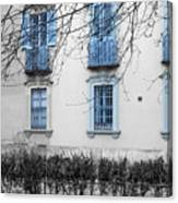 Blue Windows And Balconies Canvas Print