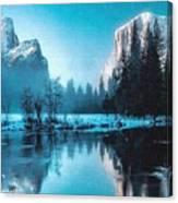 Blue Winter Fantasy. L A Canvas Print