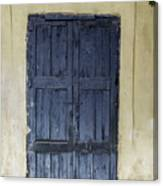 Blue Wood Door Canvas Print