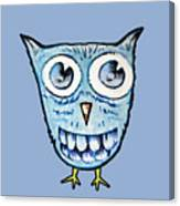 Blue Woot Owl Canvas Print