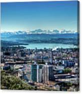 Blue Zurich Canvas Print