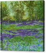 Bluebell Meadow Triptych Canvas Print