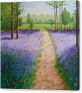 Bluebells With Butterflies Canvas Print
