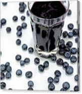 Blueberries And Blueberry Juice Canvas Print