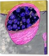 Blueberries In A Bowl Canvas Print