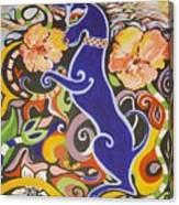 Blueberry Dog Canvas Print