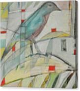 Bluebird Of Canvas Print