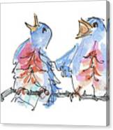 Bluebirds Singing A New Song Bd002 Canvas Print