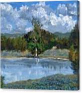 Bluebonnet Pond Canvas Print
