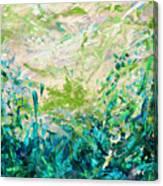 Bluegrass Sunrise - Jade A-left Canvas Print