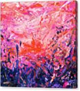 Bluegrass Sunrise - Rose A-left Canvas Print