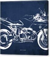 Blueprint For Men Office Decoration. R1100s Blue Background Canvas Print
