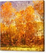 Gold Trees Canvas Print