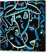 Blues Face Canvas Print