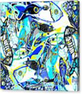 Blues Fishes Canvas Print