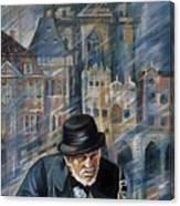 Blues Of Prague. Canvas Print