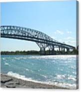 Bluewater Bridges Canvas Print