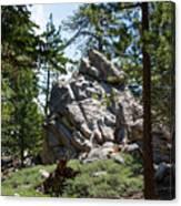Bluff Lake Ca Boulders 1 Canvas Print