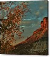 Bluffs Along The Saline River North Of Russell, Kansas. Canvas Print