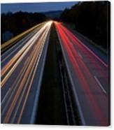 Blurred Lights Lines On Highway Canvas Print