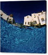Blurred View Of A Hotel From Underwater Canvas Print