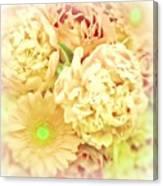 Blush Floral Bouquet Canvas Print