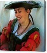 Blushing Bavarian Bridesmaid Canvas Print