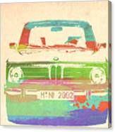 Bmw 2002 Front Watercolor 3 Canvas Print
