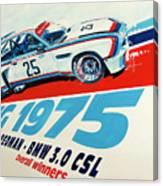 Bmw 3.0 Csl Sebring 1975 Peterson Redman Canvas Print