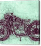 Bmw R32 - 1919 - Motorcycle Poster 3 - Automotive Art Canvas Print