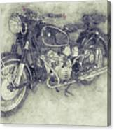 Bmw R60/2 - 1956 - Bmw Motorcycles 1 - Vintage Motorcycle Poster - Automotive Art Canvas Print