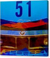 Bmw Racing Colors Canvas Print