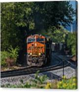 Bnsf Coming Around The Curve Canvas Print