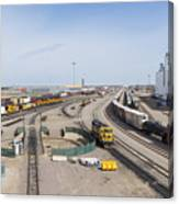 Bnsf Northtown Yard 4 Canvas Print