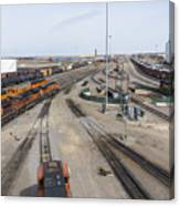 Bnsf Northtown Yard 6 Canvas Print