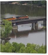 Bnsf Train 6686 A Canvas Print